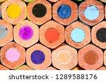 colored pencils macro... | Shutterstock . vector #1289588176