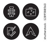 4 linear vector icon set  ... | Shutterstock .eps vector #1289588563