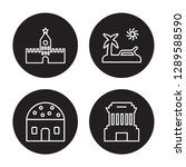 4 linear vector icon set  ... | Shutterstock .eps vector #1289588590