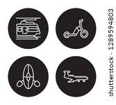 4 linear vector icon set  ... | Shutterstock .eps vector #1289594803