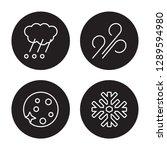 4 linear vector icon set   haze ... | Shutterstock .eps vector #1289594980
