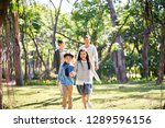 asian family with two children...   Shutterstock . vector #1289596156