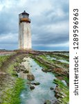 southerness lighthouse on the... | Shutterstock . vector #1289596963