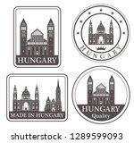 hungary logo. set   Shutterstock .eps vector #1289599093