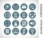 set of social media buttons ... | Shutterstock .eps vector #128960024
