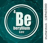 beryllium chemical element.... | Shutterstock .eps vector #1289605000