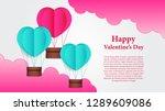 illustration of love romance...   Shutterstock .eps vector #1289609086