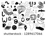 unique trendy artistic... | Shutterstock .eps vector #1289617066