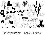 unique trendy artistic... | Shutterstock .eps vector #1289617069