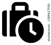 time off vector icon | Shutterstock .eps vector #1289617930
