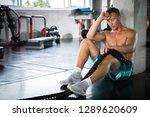 handsome muscular bodybuilder... | Shutterstock . vector #1289620609