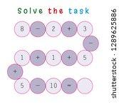 worksheet. mathematical puzzle... | Shutterstock .eps vector #1289625886