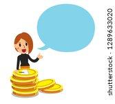 vector cartoon business concept ... | Shutterstock .eps vector #1289633020
