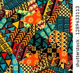colored african patchwork... | Shutterstock .eps vector #1289633113