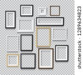 set of photo realistic square... | Shutterstock .eps vector #1289634823