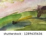 abstract watercolor painted... | Shutterstock . vector #1289635636