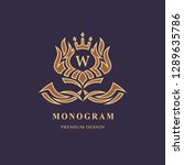 monogram design elements ... | Shutterstock .eps vector #1289635786