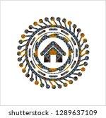 home icon inside arabesque... | Shutterstock .eps vector #1289637109
