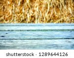 wooden table with straw texture ... | Shutterstock . vector #1289644126