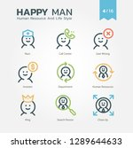 human resource and life style...   Shutterstock .eps vector #1289644633