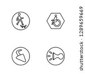 linear skateboard  turn right ...   Shutterstock .eps vector #1289659669