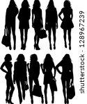 fashion silhouette | Shutterstock .eps vector #128967239