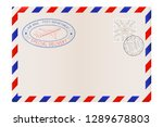 blank envelope with stamp and... | Shutterstock . vector #1289678803