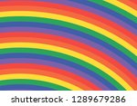colorful curved pastel lines | Shutterstock . vector #1289679286