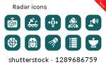 radar icon set. 10 filled... | Shutterstock .eps vector #1289686759