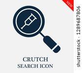 crutch search icon. editable... | Shutterstock .eps vector #1289687806