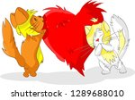 two cats in love | Shutterstock .eps vector #1289688010