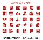 notepad icon set. 30 filled...   Shutterstock .eps vector #1289688403