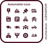 automobile icon set. 16 filled ... | Shutterstock .eps vector #1289689039