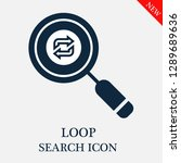 loop search icon. editable loop ... | Shutterstock .eps vector #1289689636