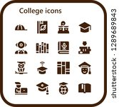 college icon set. 16 filled... | Shutterstock .eps vector #1289689843