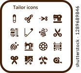 tailor icon set. 16 filled... | Shutterstock .eps vector #1289689846