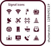 signal icon set. 16 filled... | Shutterstock .eps vector #1289690119