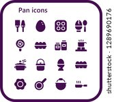 pan icon set. 16 filled pan... | Shutterstock .eps vector #1289690176