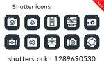 shutter icon set. 10 filled... | Shutterstock .eps vector #1289690530