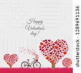 valentines day card transparent ... | Shutterstock .eps vector #1289691136