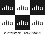 chess pattern  ready for... | Shutterstock .eps vector #1289695003
