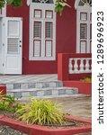 the old huses of scharloo ... | Shutterstock . vector #1289696923