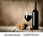 Wine And  Bread On The Wooden...
