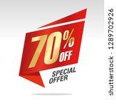 70 percent off sale speech... | Shutterstock .eps vector #1289702926
