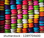various colored macaroon sweets ... | Shutterstock . vector #1289704600