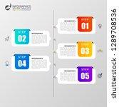 infographic design template....   Shutterstock .eps vector #1289708536