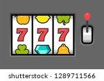 777 slot machine. casino vegas...   Shutterstock . vector #1289711566