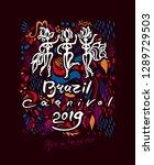 brazil carnival 2019. beautiful ... | Shutterstock .eps vector #1289729503