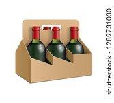 mockup cardboard packag sixpack ...   Shutterstock .eps vector #1289731030