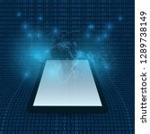digital matrix. bits pattern of ...   Shutterstock .eps vector #1289738149